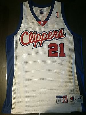 Authentic Champion Nba Jersey Maillot Clippers #21 Darius Miles 44
