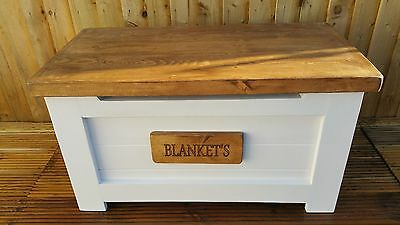 Hand Made Personalised Solid Wood Toy Box /Storage Box / Blanket Box Ex Large