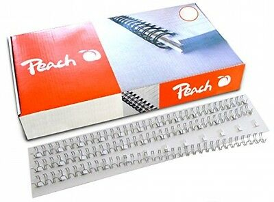 Peach PW064-02 6mm Wire Binding Combs - White