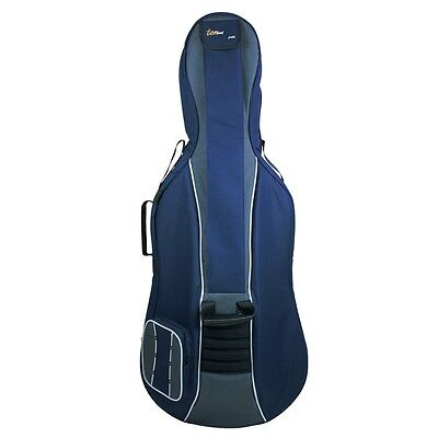 Tom and Will 1/2 Size Padded Cello Bag - Navy & Grey