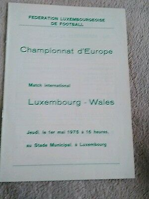 Luxembourg v Wales WCQ 1/5/1975 MINT CONDITION