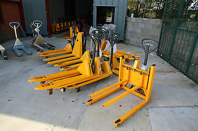 Hand Pallet Trucks - Stainless Steel and Yellow - Many different types