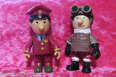 Postman Pat TRAIN CONDUCTOR AJAY BAINS & MOTORCYCLE JACKET ~ 2 Play Figures