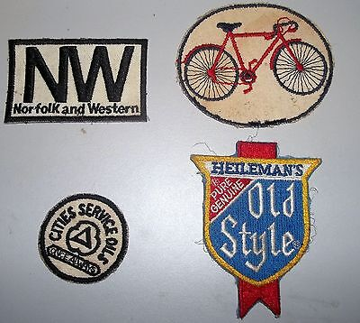 Norfolk and Western, Heileman's Old Style, 2 other patches, vintage _____3627/7