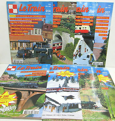 """ LE TRAIN "" Lot de 8 Numéros - Lot N° 3 = 200-201-202-203-204-205-206-207-"