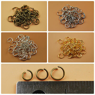 Round Open Jump Rings Connector Link Attach Charm Clasp Chain Finding 19 Gauge