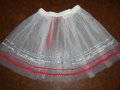Vintage Holiday Christmas Half Apron White Tulle