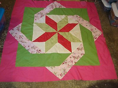 SPRING GARDEN LABYRINTH QUILT TOP - Not Quilted-Machine Pieced, Made in the USA!