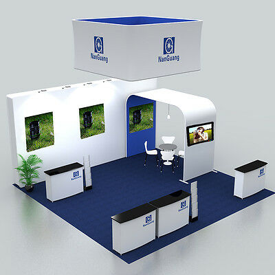 20ft protable fabric trade show display pop up booth system with custom graphic