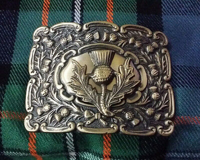 Scottish Kilt Belt Buckle Thistle Crest Antique Finish/Thistle Emblem Buckles