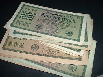 GERMANY WW1  BANKNOTE 1000 MARKS USED 1922 ONLY 99p FOR 1