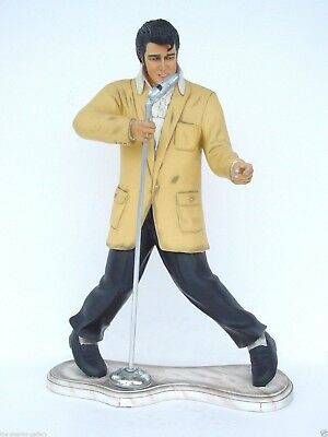Rock and Roll Singer with Microphone Statue 3 FT Singer Standing with Microphone