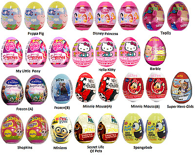 30 Surprise Eggs For Girls Toy+Candy+Stickers Perfect For Easter B'day Lootbags