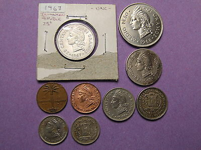 Coins From The Dominican Republic / Caribbean , 1 Centavo - 1/2 Peso