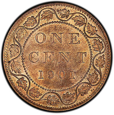 1901 1 Cent Canada MS-64RB PCGS - PRICE REDUCED!!!