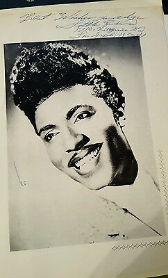 Little Richard Genuine Hand Signed Photograph From Program During 1962 Tour