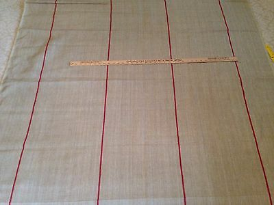 Ralph Lauren Home KRAVET ICE HOUSE STRIPE – BARN RED LINEN Fabric msrp $296/Y