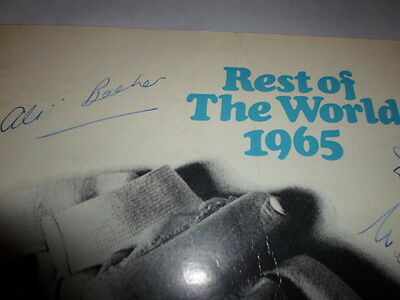 Rest of the World XI v England XI 1965 programme Lords **SIGNED**