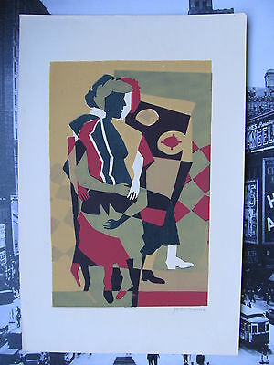 Jackie CROUSE. Original Signed Mid Century Color Print. c1950's