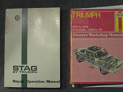 Triumph Stag Factory Workshop Manual & Haynes Stag 1970-78