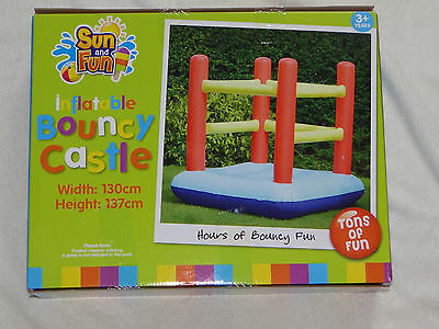 New Sun and Fun inflatable Bouncy Castle Summer Toy 130 x 137cm Real Photos