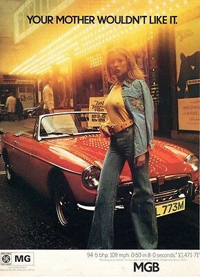 Classic Car Advert 70's MGB Your Mother Wouldn't Like It High Gloss A4 Print