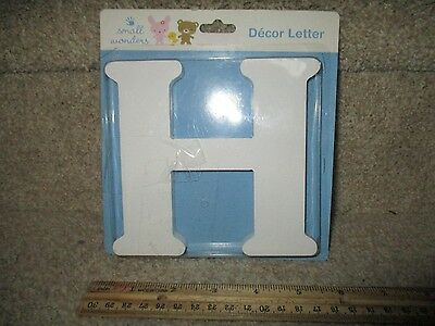 H Small Wonders Decorative Wall Decals Nursery Decor Letter White Wooden Craft