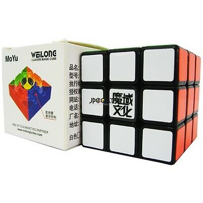 New YJ-MoYu Weilong V2 Black 3x3x3 Speed Cube-in UK