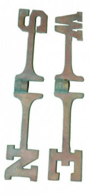 "Hard To Find Set Of 18"" Solid Brass Weathervane Patina Directionals W/set Screw"
