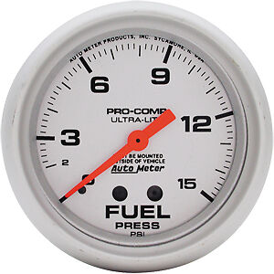 "Auto Meter Ultra-Lite Fuel Pressure Gauge 2-5/8"" mechanical AU4411"