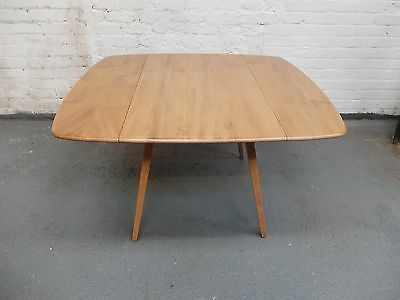 Vintage Blonde Ercol Midcentury Drop Leaf Dining / Kitchen Table (20C908)