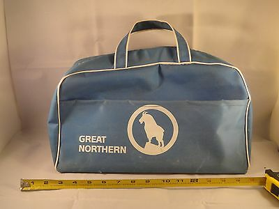 Vintage Great Northern Railroad Vinyl Travel Tool Bag Rocky Goat Used See Pics