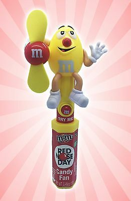 M&M's Red Nose Day Candy Fan Yellow Peanut Chocolate RND Charity Limited Edition