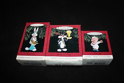 Hallmark Christmas Ornaments Looney Tunes collection Lot of 3