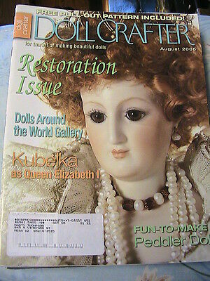 DOLL CRAFTER August 2005 Peddler doll pattern~restoration~china head doll & more