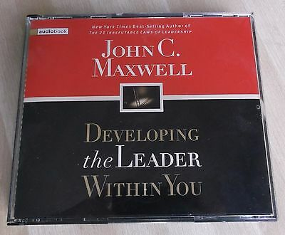 """""""Developinging the Leader Within You"""" by John C. Maxwell (3 CD Audiobook)+Bonus"""