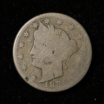 1886 Liberty 'v' Nickel - Key Date                  C