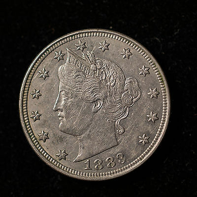 1883 Liberty 'v' Nickel - With Cents         Lib.  D