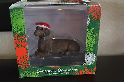 Sandicast Christmas Ornament - Dachshund, Red