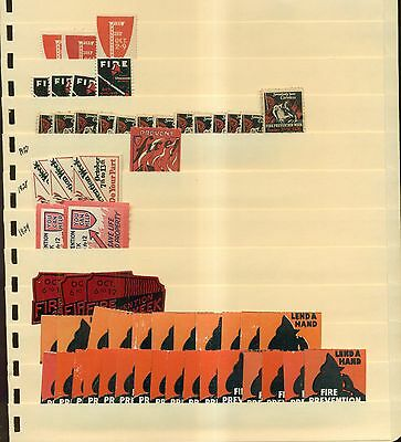 1920's-1950's Fire Prevention Week Poster Stamps Stock-Over 1,000 Poster Stamps