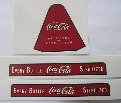 Metalcraft replacement Coca Cola water slide coke decal set
