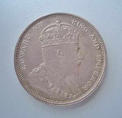British Colony, Straits Settlements 1903 Dollar, Extremely Fine, 37 mm Diameter
