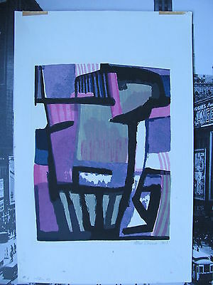 Allen Brown. Original Signed Abstract Color Print 6/40 Dated 1959