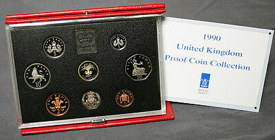 1990 United Kingdom Royal Mint Deluxe Proof Coin Collection Package & CoA #15451