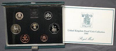 1985 United Kingdom Royal Mint Proof Coin Collection Package & CoA #15463