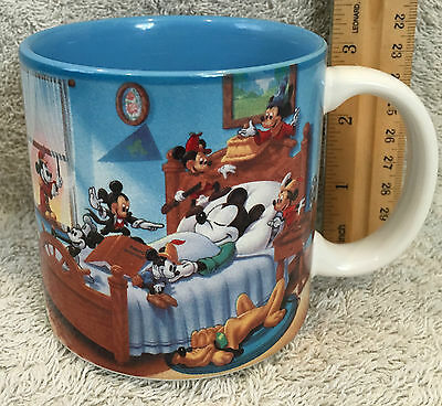 "Disney's ""Mickey Mouse Through The Years"" Coffee Cup / Mug ~ Blue ~ Collectable"
