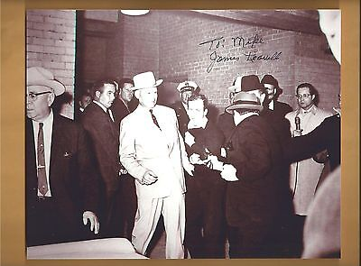 """James Leavelle """"Dallas Police Detective Autographed 8x10 Picture JFK Ruby Oswald"""