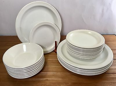 Wedgwood Stonehenge Midwinter White Dinner Plates Salad Plates Bowls Lot Of 25