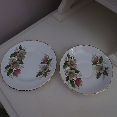 Regency plate & saucer no cup white flowers