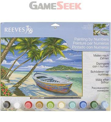 Reeves Painting by Numbers Large - Tropical Beach